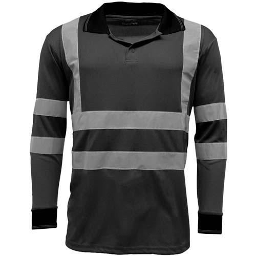 Standsafe HV005 Hi Vis Long Sleeve Polo Shirt