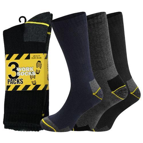 Mens Multi Pack Ribbed Work Socks (12 Pack)